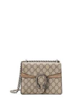 Mini Dionysus Gg Supreme Shoulder Bag, Ebony/Taupe by Neiman Marcus