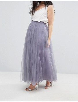 Little Mistress Maxi Tulle Prom Skirt by Little Mistress Plus