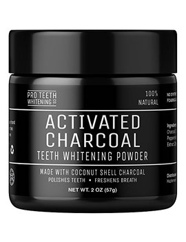 Activated Charcoal Natural Teeth Whitening Powder By Pro Teeth Whitening Co Grey Charcoal (Non Abrasive And Proven Safe For Enamel) From Coconut Shells | Manufactured In England by Pro Teeth Whitening Co