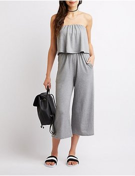 Ruffle Wide Leg Jumpsuit by Charlotte Russe