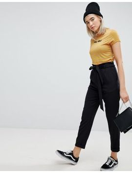 Pull&Bear Paper Bag Waist Relaxed Pants by Pull&Bear