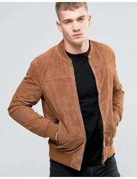 Jack & Jones Suede Bomber Jacket by Jack & Jones