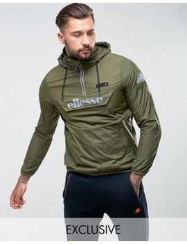 Ellesse Overhead Jacket With Reflective Logo In Green by Ellesse