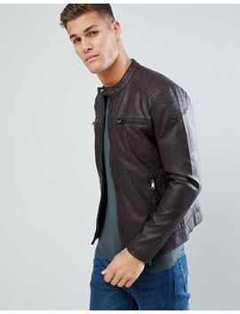 Only & Sons Pu Biker Jacket by Only & Sons