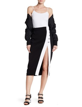 High Slit Contrast Skirt by Kendall & Kylie