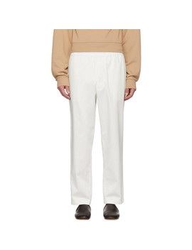 White Alvin Trousers by Acne Studios