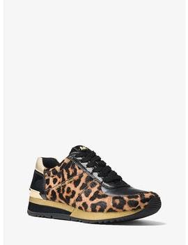 Allie Leopard Calf Hair Sneaker by Michael Michael Kors