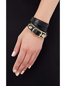 Metallic Edge Double Tour Wrap Bracelet by Balenciaga