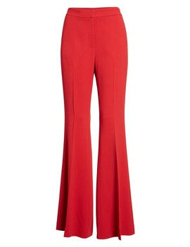 Flared Crepe Pants by Lewit