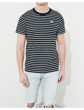 Stripe Crewneck T Shirt by Hollister