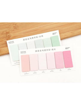 2 Sets Gradient Index Sticky Notes   Green / Pink Japanese Stationery Kawaii Cute Planner Bookmarks by Etsy