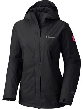 Columbia Women's Tested Tough In Pink Ii Rain Jacket by Columbia