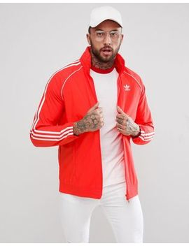 Adidas Originals Adicolor Superstar Track Jacket In Red Cw1310 by Adidas Originals