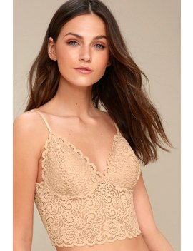 Love And Wishes Nude Lace Bralette by Lulu's