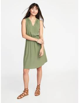 Sleeveless Cinched Waist Dress For Women by Old Navy