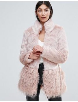 Lipsy Faux Fur Paneled Coat by Lipsy