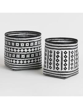 Black And White Bamboo Zoey Baskets by World Market