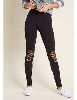 Distress The Necessity Leggings In Black Distress The Necessity Leggings In Black by Modcloth