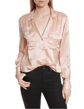 Ansley Dot Silk Shirt by Equipment