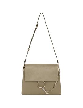 Grey Medium Faye Shoulder Bag by ChloÉ