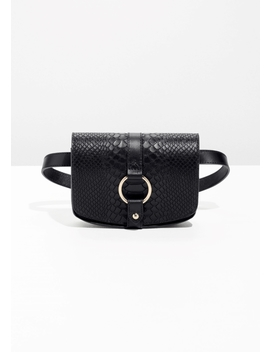Leather Snake Textured Beltbag by & Other Stories