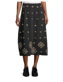 Lottie Embellished Midi A Line Skirt by Elizabeth And James