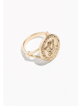 Bee Embossed Pendant Ring by & Other Stories