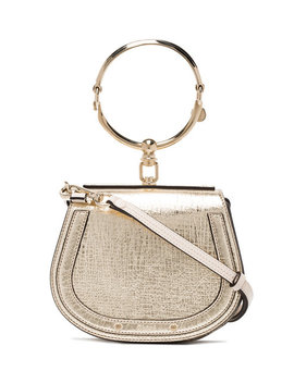 Gold Nile Small Leather Bracelet Bag by Chloé