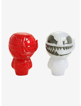 Funko Marvel Red &Amp; White Glitter Venom Hikari Xs Limited Edition Vinyl Figure Set by Hot Topic