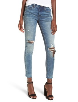 Distressed High Waist Skinny Jeans by Blanknyc