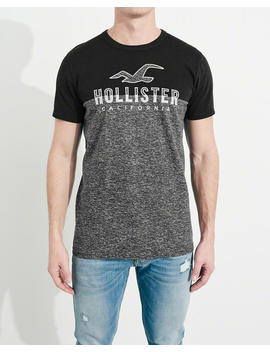 Split Logo Graphic Tee by Hollister