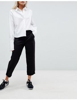 Asos Petite Chino Trousers In Black by Asos Petite