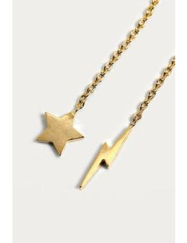 Estella Bartlett Star And Lightning Bolt Chain Drop Earrings by Urban Outfitters