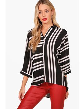 Avril Mixed Stripe Woven Shirt by Boohoo