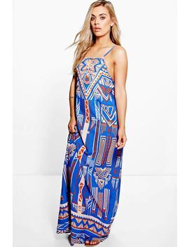 Plus Jane Printed Woven Maxi Dress by Boohoo