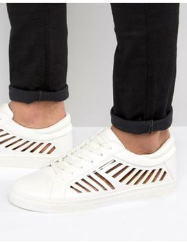 Asos Sneakers In White With Cut Out Detail by Asos