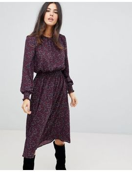 Ax Paris Floral Midi Dress With Ruched Waist by Dress
