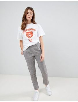 Daisy Street Cigarette Pants In Prince Of Wales Check by Daisy Street