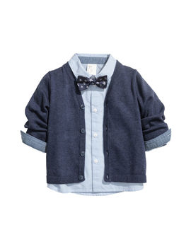 Shirt, Bow Tie And Cardigan by H&M