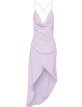 Holly Asymmetric Draped Silk Crepe De Chine Dress by Haney