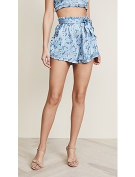 Spring Bloom Ruffle Shorts by For Love & Lemons