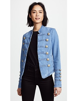 Fitted Military Denim Jacket by Free People