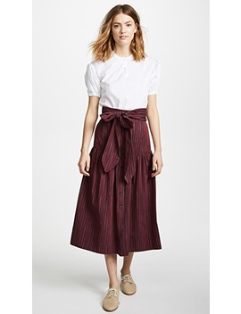 Belted Midi Skirt by Sea