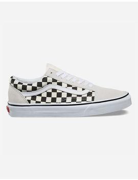 Vans Checkerboard Old Skool White & Black Shoes by Vans