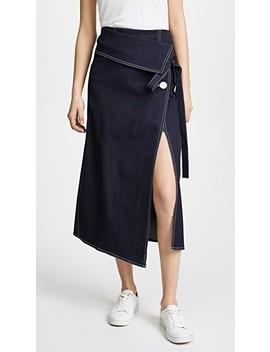 Denim Wrap Skirt by Robert Rodriguez