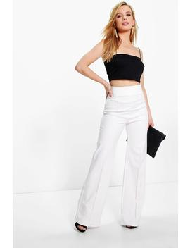 petite-high-waisted-wide-leg-trouser by boohoo