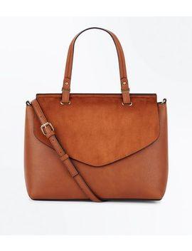 Tan Top Handle Satchel Bag by New Look