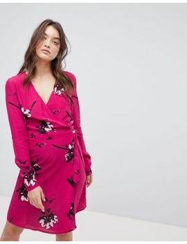 Vila Floral Wrap Dress by Vila