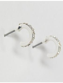Liars & Lovers Sterling Silver Rhinestone Mini Hoop Earrings by Liars & Lovers