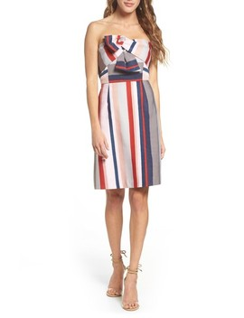 Stripe Strapless Dress by Sam Edelman